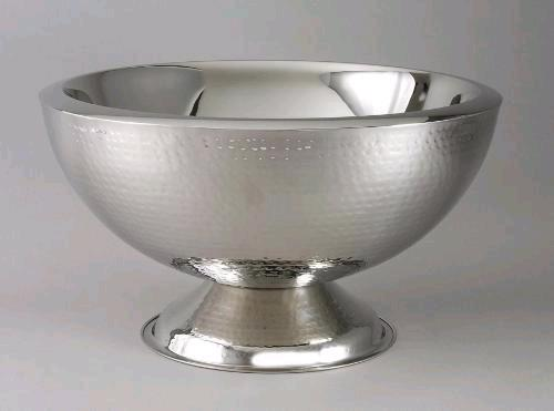 Where to find PUNCH BOWL HAMMERED SILVER W LADLE in Stevens