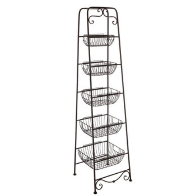 Where to find BASKET STAND ANTIQUE FINISH in Stevens