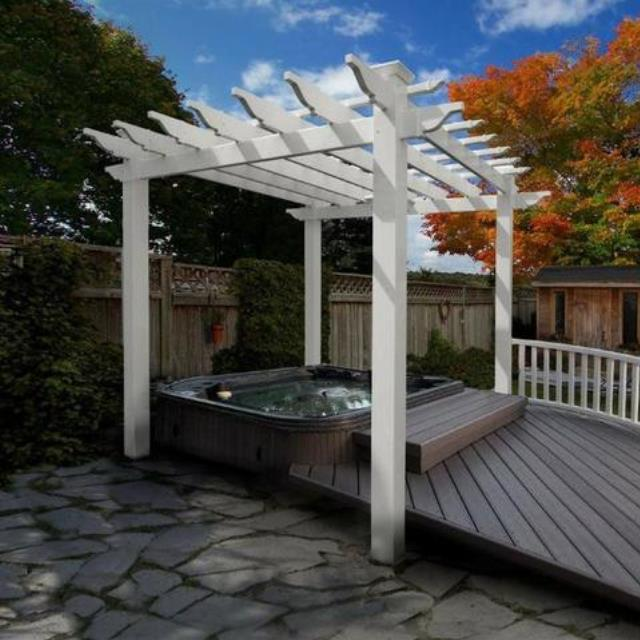 Where to find ARBOR PERGOLA WHITE in Stevens