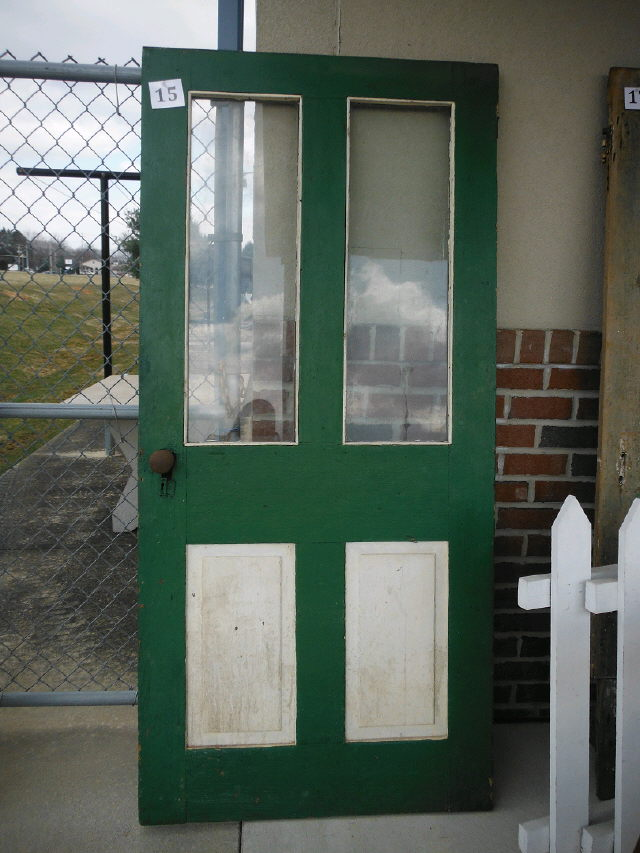 Where to find VINTAGE DOOR  15 GREEN W PANES in Stevens