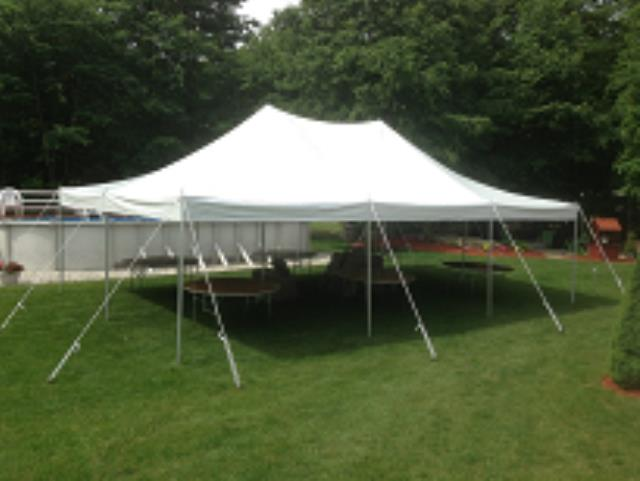Where to find TENT 20X30 POLE WHITE in Stevens