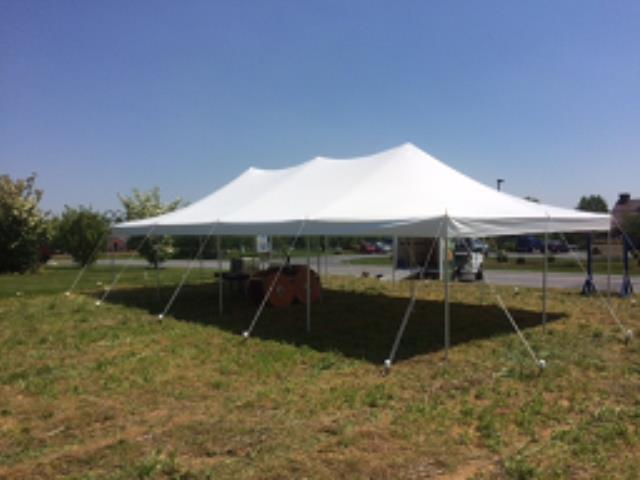 Where to find TENT 20X40 POLE WHITE in Stevens
