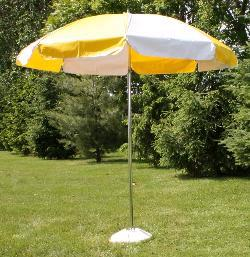 Where to find UMBRELLA YELLOW W STAND in Stevens