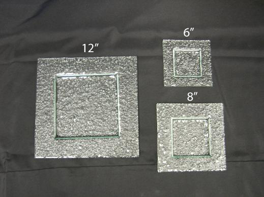 Where to find CHINA GREEN GLASS SQ 8  PLATE in Stevens