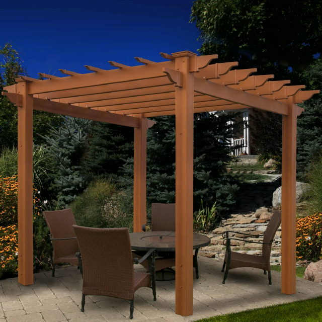 Where to find ARBOR PERGOLA BROWN in Stevens