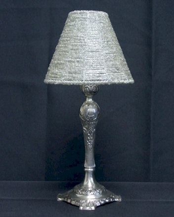 Where to find CANDLE LAMP SHADE BEADED SILVER in Stevens