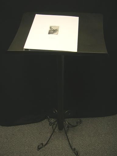 Where to find GUEST BOOK STAND BLACK in Stevens