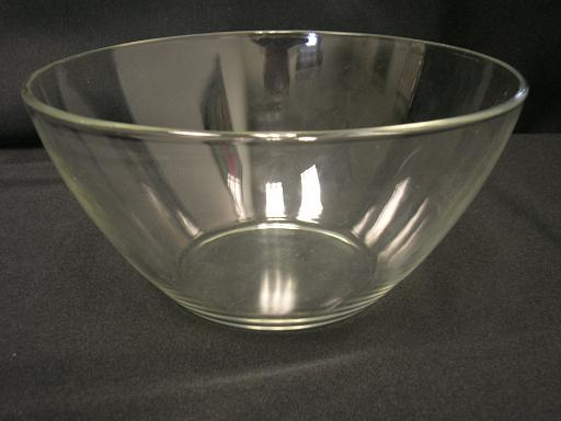 china clear glass serving bowl 9 inch rentals pa