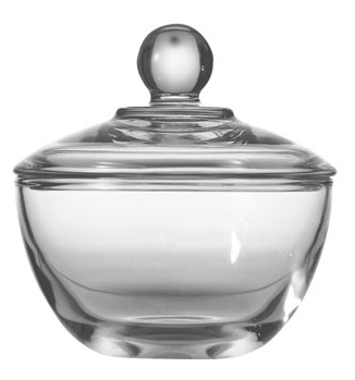 Where to find CHINA CLEAR GLASS SUGAR BOWL   LID in Stevens