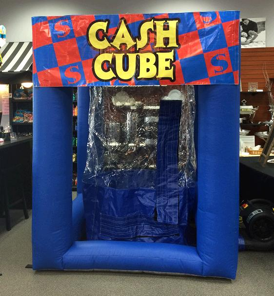 Where to find GAME INFLATABLE CASH CUBE in Stevens