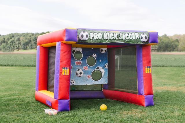 Where to find GAME INFLATABLE PRO KICK SOCCER in Stevens