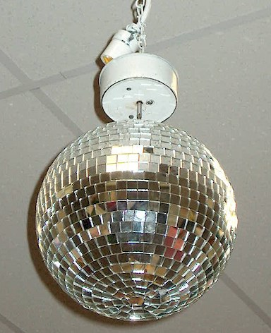 Where to find DISCO MIRROR BALL W PIN LIGHT in Stevens