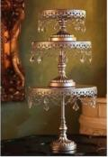 Rental store for CAKE STAND SILVER   CRYSTALS SET OF 3 in Stevens PA