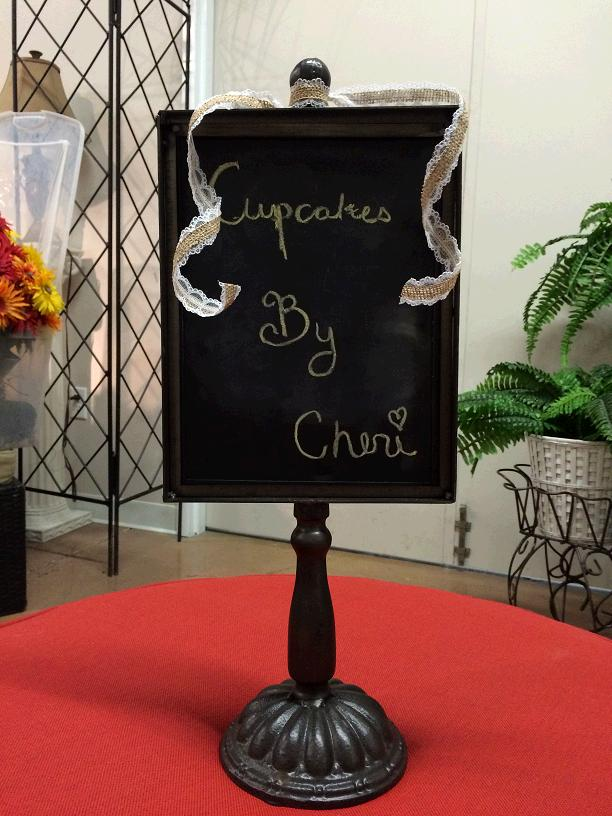 Where to find CHALKBOARD BLACK PEDESTAL VINTAGE in Stevens